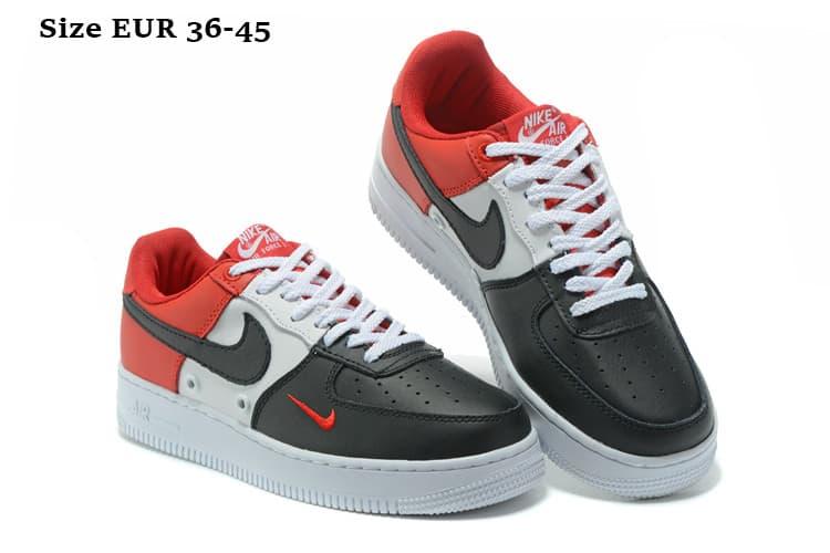 Nike Air Force 1 Tri-Color RedBlack
